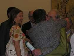 Emanuela Agnoli e Ivano Dionigi con Bruno Pinto