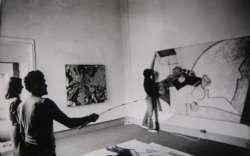 allestimento mostra Lutero, Galleria Vivita di Firenze 1983