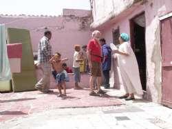 Casablanca - Bruno con la Troupe durante le riprese, 2006