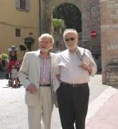 Bruno insieme al suo amico Gianni Cova, ad Assisi il giorno del suo matrimonio