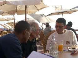 Casablanca - Bruno con il regista Mohamed Zineddaine, 2006