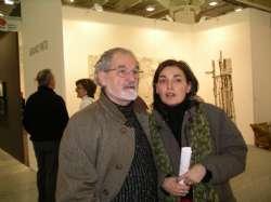 Arte Fiera, Bruno con la figlia Bianca Maria